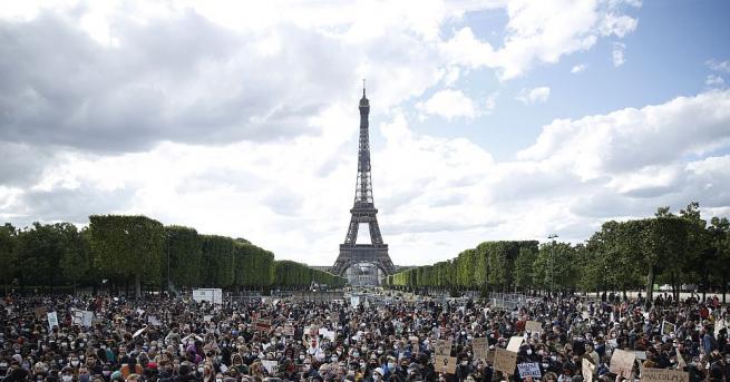 Антирасистки протести се състояха днес в редица френски градове, включително