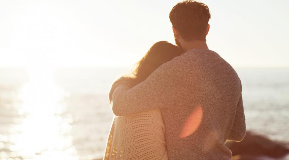 любов двойка връзка плаж море залез