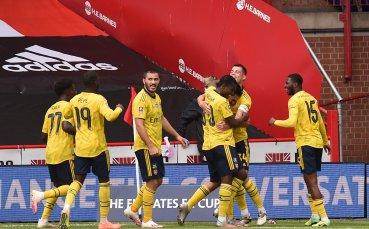 Арсенал се промъкна на 1/2-финал след късна драма в Шефилд