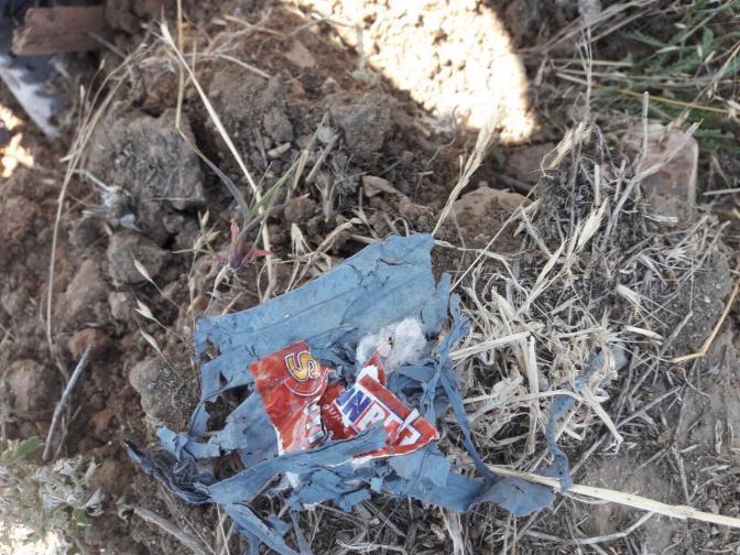 червен бряг отпадъци