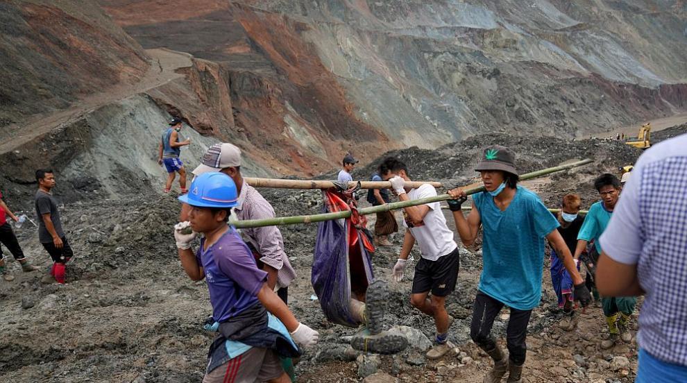 Видео показва свлачището в Мианмар, погребало 113...