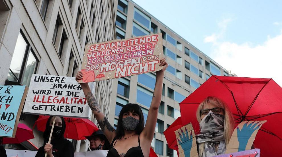 Германски проститутки излязоха на протест, защото публичните домове са все още затворени