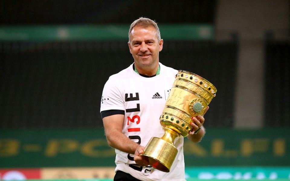 Треньорът на Байерн Мюнхен Ханс-Дитер Флик бе горд с играчите