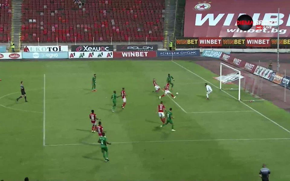 ЦСКА и Лудогорец се оттеглиха на почивката при резултат 0:0