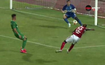 Али Соу разпечата вратата на Лудогорец и даде преднина на ЦСКА