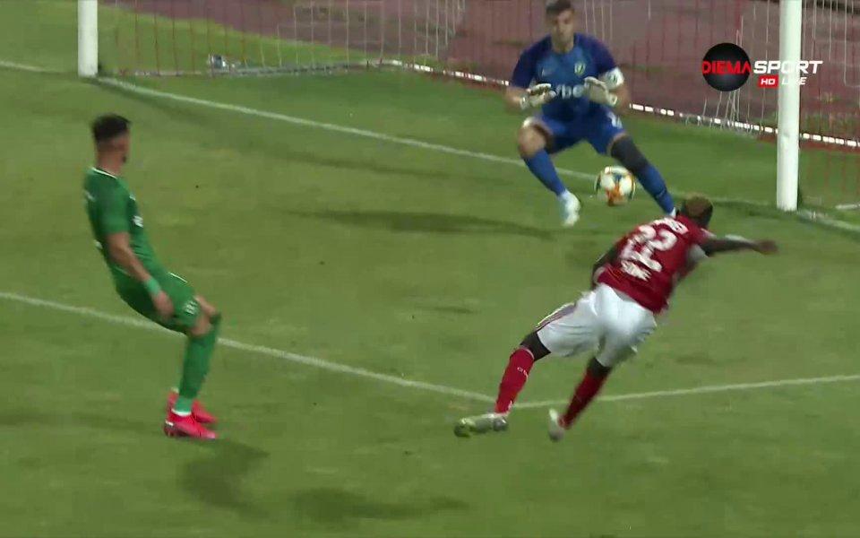 В 62-ата минута Али Соу най-сетне счупи каръка срещу Лудогорец