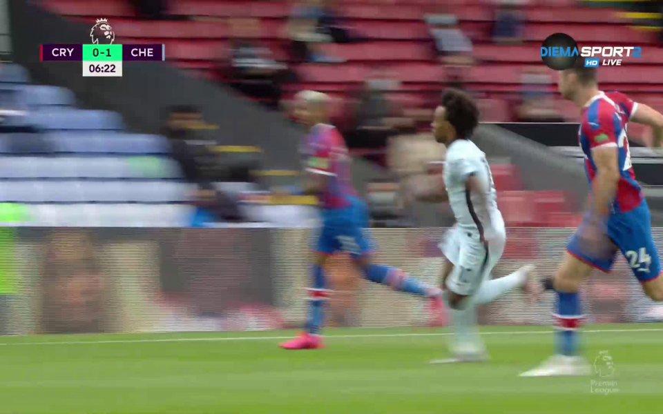 Още в 6-ата минута Челси се възползва от чистата голова