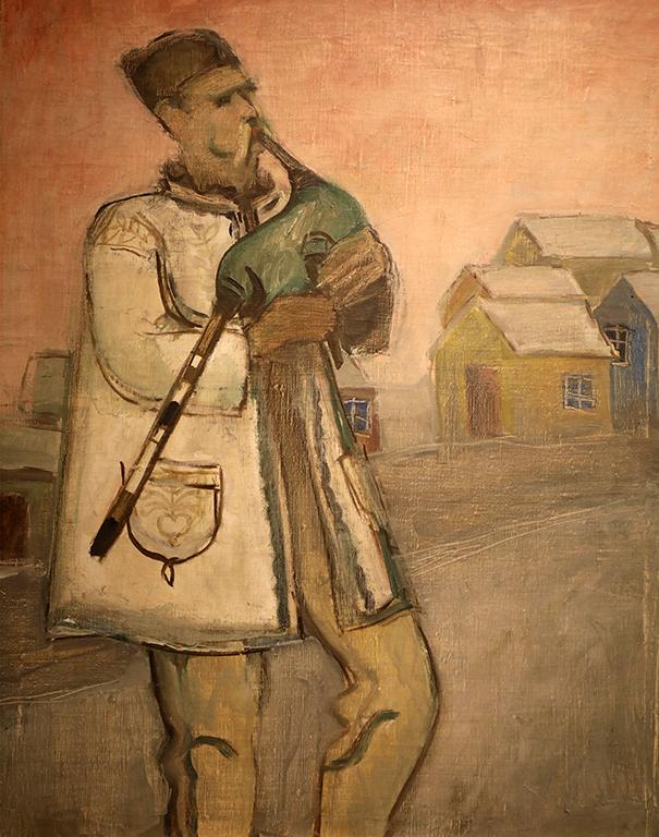 <p>Иван Пенков (1897 - 1957)</p>  <p>Гайдар, 30-те г. на ХХ в. маслени бои, платно</p>