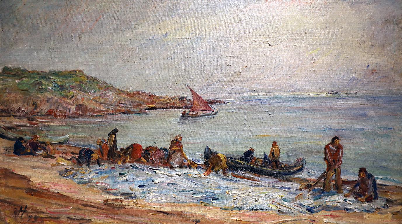 <p>Димо Николов (1898 - 1984)</p>  <p>Риболов &ndash; Созопол, 1955 маслени бои, платно</p>