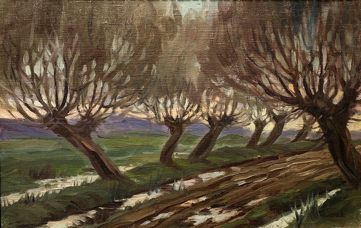 <p>Слави Генев (1893 - 1977)</p>  <p>Пейзаж, 30-те г. на ХХ в. маслени бои</p>