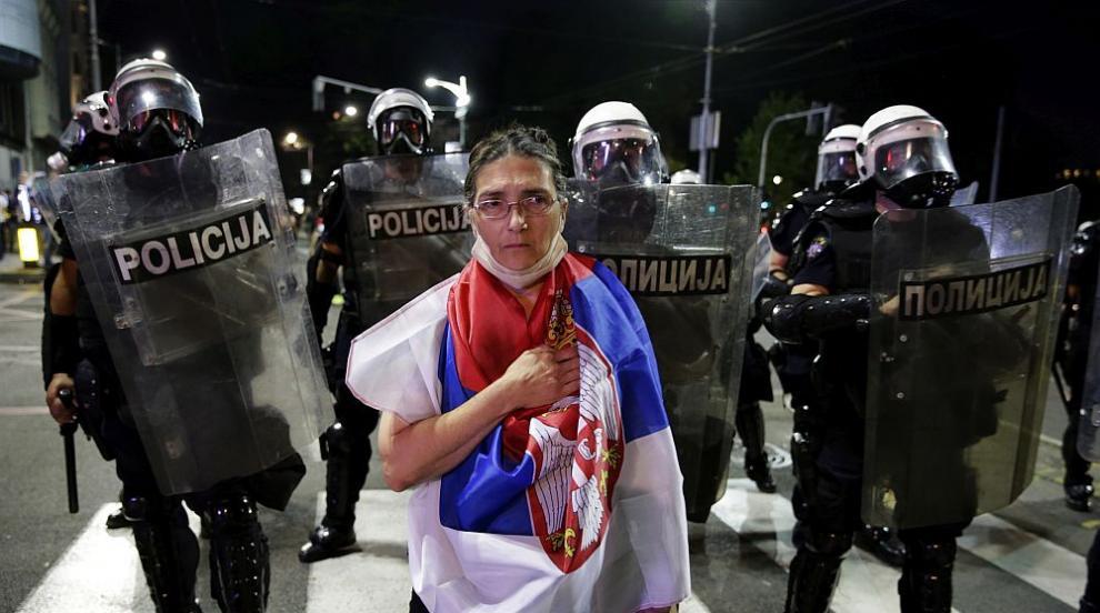 Поредна вечер на протести в Сърбия