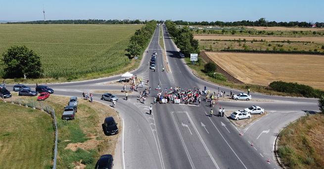 Отново протест за започването на основния ремонт на пътя Русе-Кубрат