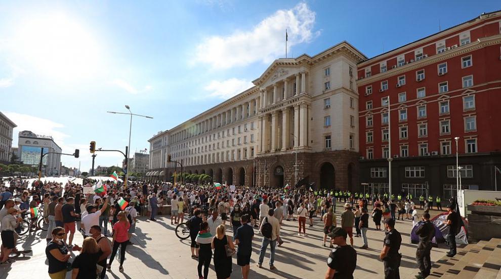 Сашо Дончев и Румен Петков заедно на протеста в подкрепа на президента (ВИДЕО)