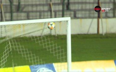 Великолепен гол на Антонио Вутов изведе канарчетата напред в резултата