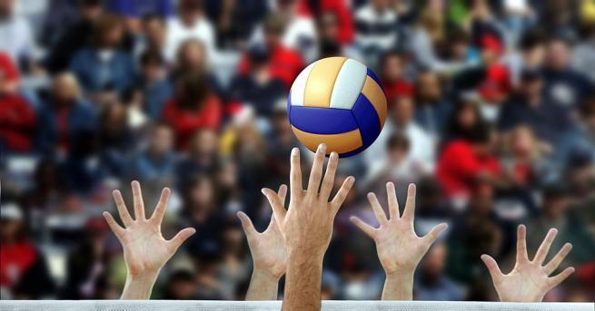 Разпределителят от Националния отбор по волейбол - Георги Сеганов, е