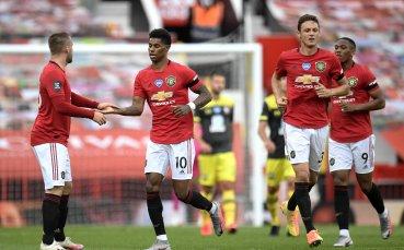Юнайтед се сгромоляса в последния момент срещу борбените