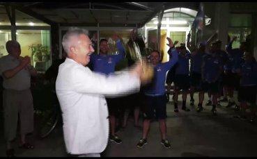 Кметът на Монтана и фенове на отбора посрещнаха футболистите след успеха над Дунав