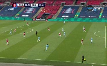 Арсенал - Манчестър Сити 1:0 /първо полувреме/