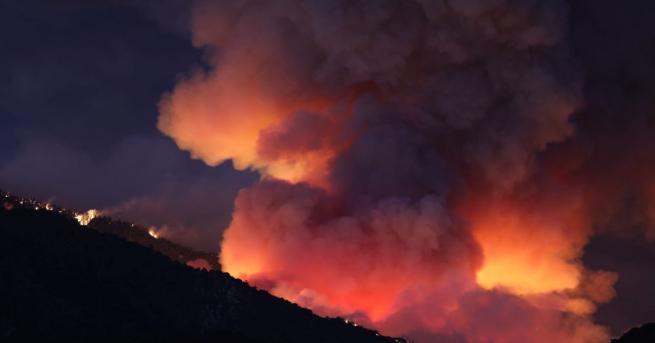 Огромен горски пожар гори в Калифорния. Повече от 8 хиляди