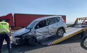 """Тежка катастрофа с джип на """"Тракия"""", задръстване"""