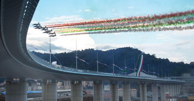 Свят Официално откриха новия мост на Генуа При трагедията тогава