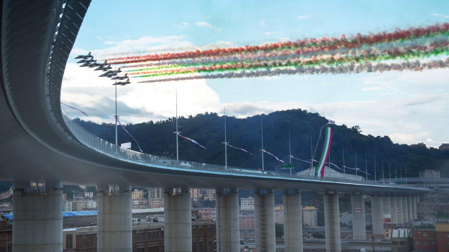 Официално откриха новия мост на Генуа