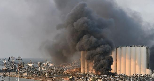 При мощните експлозии, разтърсили днес пристанището на Бейрут са загинали
