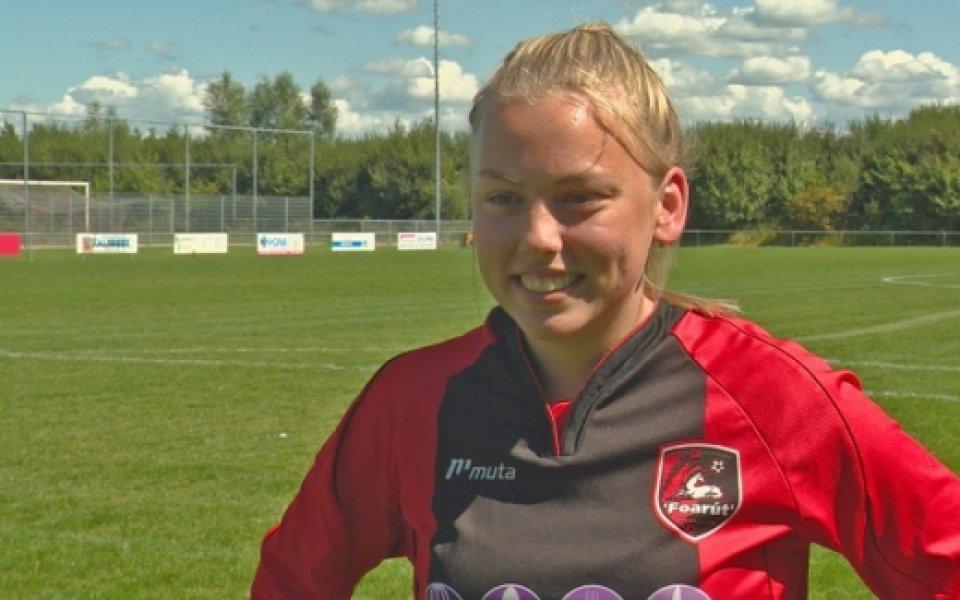 Невиждано: Позволиха на жена да играе мъжки футбол