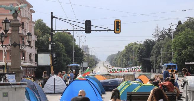 МВР показа кадри на вчерашната блокада в София. Само часове