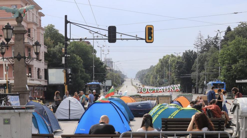 МВР показа кадри на вчерашната блокада в София (ВИДЕО)