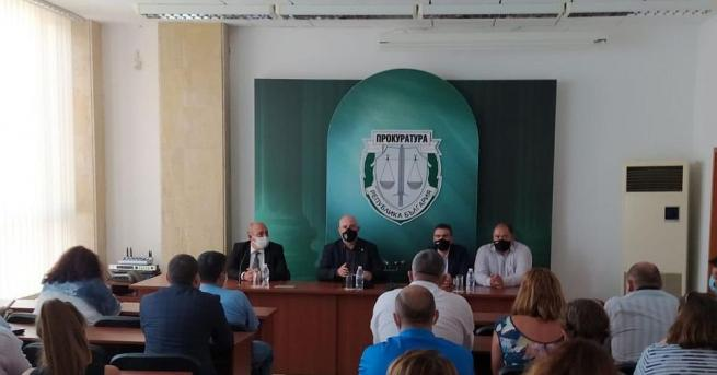 Главният прокурор Иван Гешев поздрави прокурорите от Бургас по време