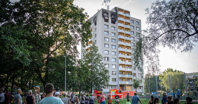 Пожар в многоетажен жилищен блок в градчето Бохумин в Чехия