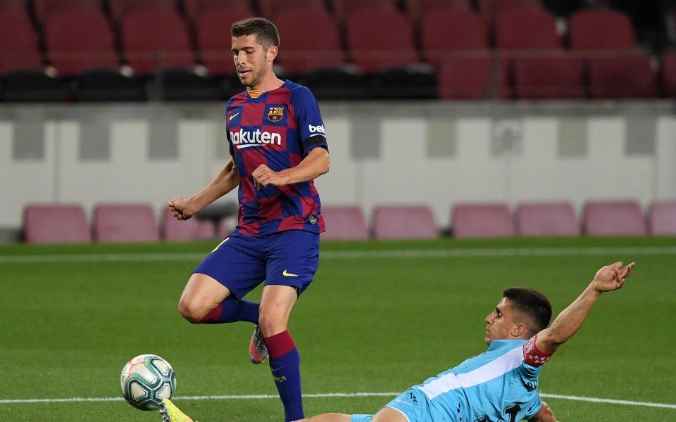 Полузащитникът на Барселона Сержи Роберто е на мнение, че в
