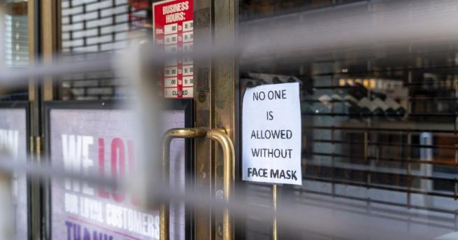 Мъж, отказал да си сложи предпазна маска в супермаркет в