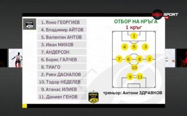 11-те най-добри в първия кръг в efbet Лига