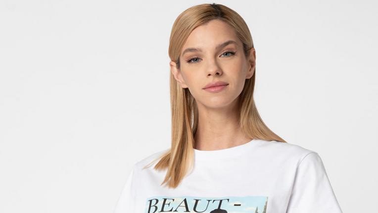 EDNA ОБ(Л)ИЧА: тениски с щампи ПОД 20 ЛЕВА