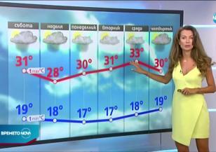 Прогноза за времето (14.08.2020 - централна емисия)