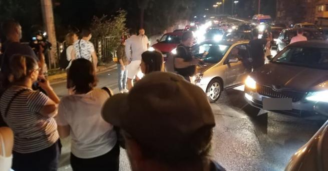 """37-ия ден на протести оставаблокадата на кръстовищата на """"Орлов мост"""",пред"""