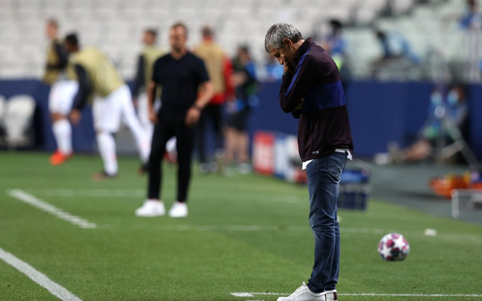 Старши треньорът на Барселона Кике Сетиен бе в погребално настроение