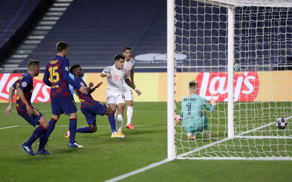 Барселона преживя истински кошмар в четвъртфинала срещу Байерн Мюнхен в