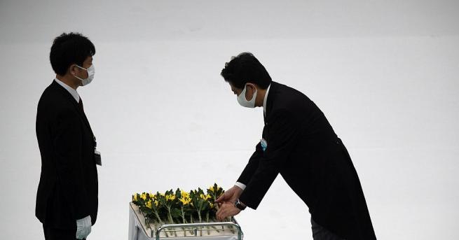 Японският премиер Шиндзо Абе се зарече днес Япония никога повече