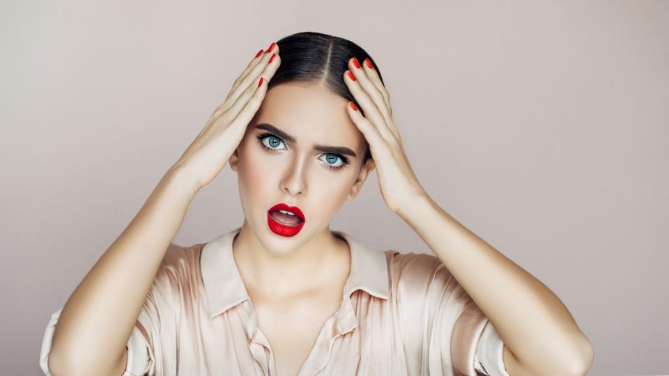 жена главоболие коса красота