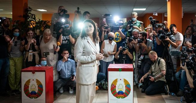 Бившият кандидат за президент на Беларус Светлана Тихановска призова европейските