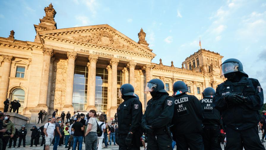 Опит за щурм на Райхстага, стотици арестувани