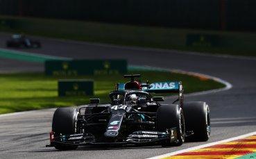 Хамилтън преби жестоко конкуренцията в Белгия, тежък крах за Ферари