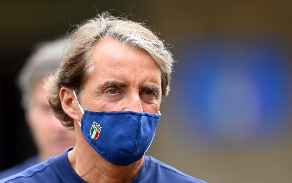 Манчини още е с коронавирус, няма да води Италия с Босна