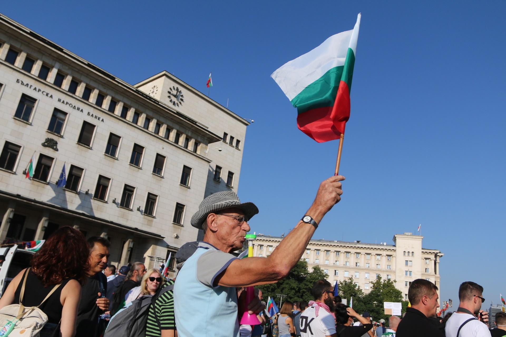 <p>Протест в София под надслов &quot;Второ велико народно въстание&quot;</p>