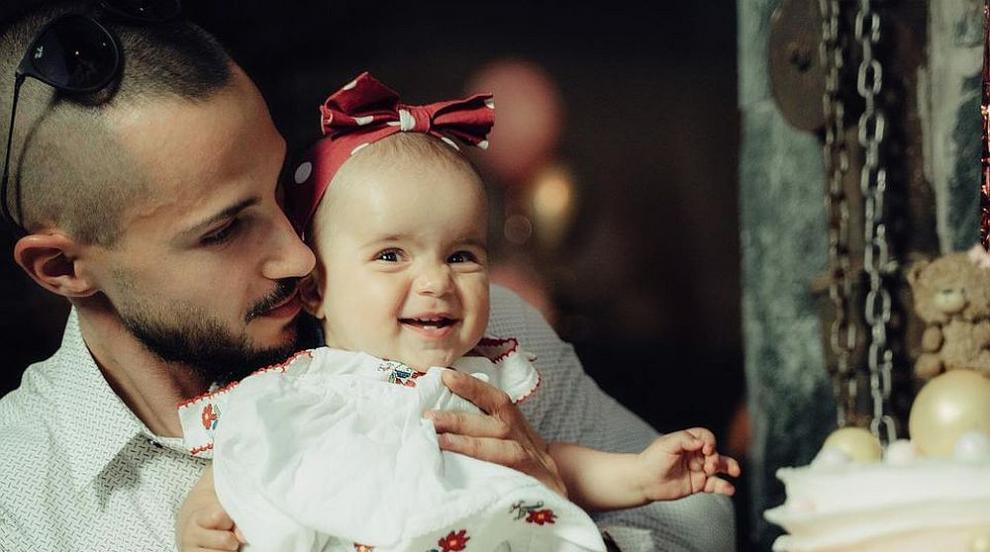 Актьорът Наум Шопов и Теа кръстиха малката Амая...