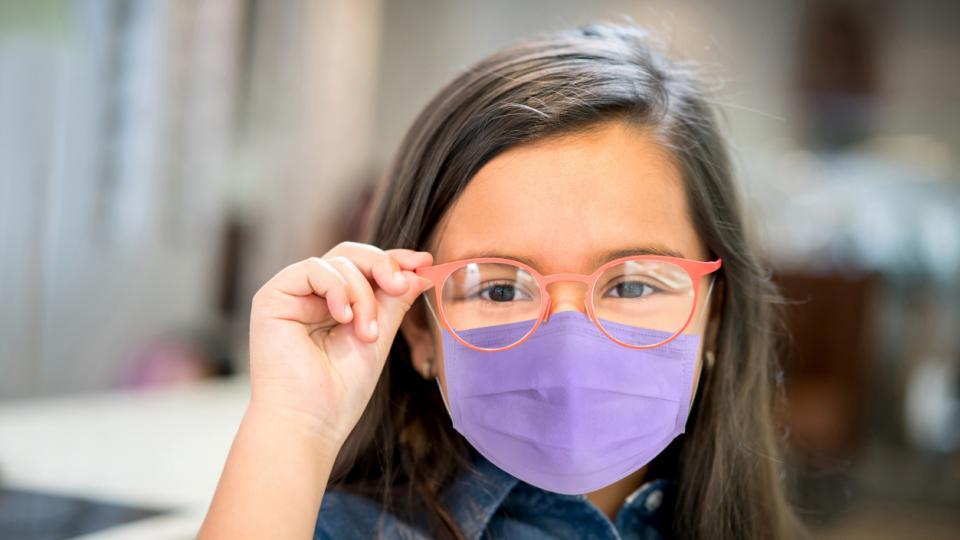 дете маска очила