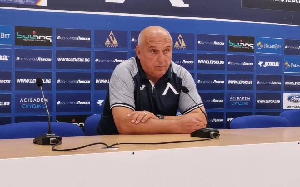 Старши треньорът Георги Тодоровостана доволен от победата на неговия тим